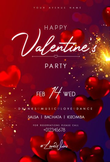 Valentine's Day Event Free Flyer Template