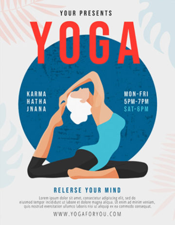 Yoga Classes Free PSD Flyer Template