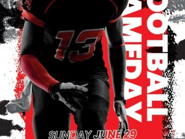 Football Gameday Free PSD Flyer Template