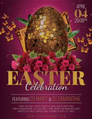 Free Easter Celebration Party Flyer Template