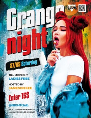 Free Grunge Night Flyer PSD Template