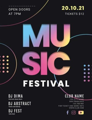 Free Music Festival Flyer PSD Template