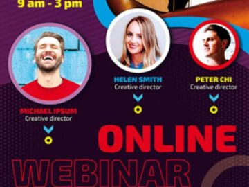 Free Online Webinar Business Flyer Template