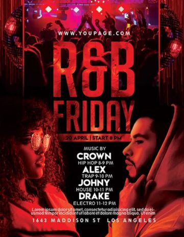 Free RnB Party Flyer PSD Template