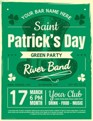 Free St. Patricks Day Flyer PSD Template