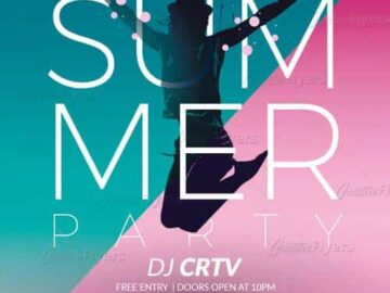 Free Summer Party PSD Flyer Template