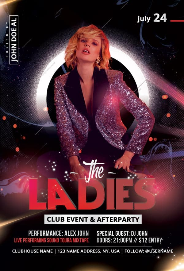 Ladies Party Night Free PSD Flyer Template