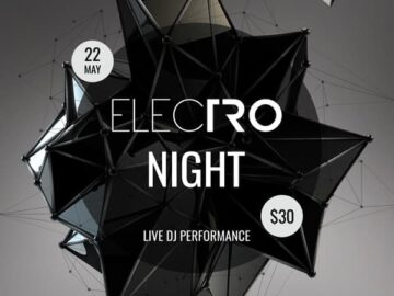 Electro Party Event Free PSD Template