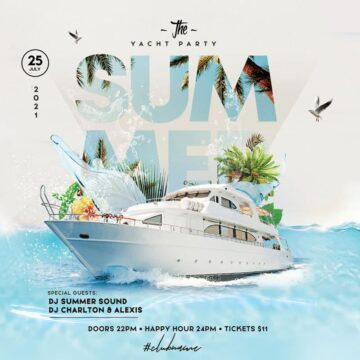 Summer Yacht Party Free Instagram Template