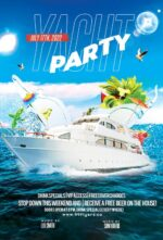 Yacht Party Free Flyer Template