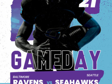 Football Gameday Free Flyer Template