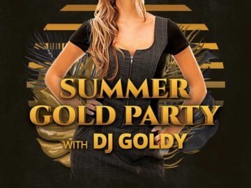 Free Summer Gold Party Flyer Template